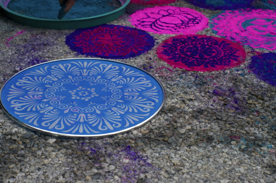 Sunday Snapshot: Rangoli Sidewalk Art at Maker Faire New York | Red-Handled Scissors
