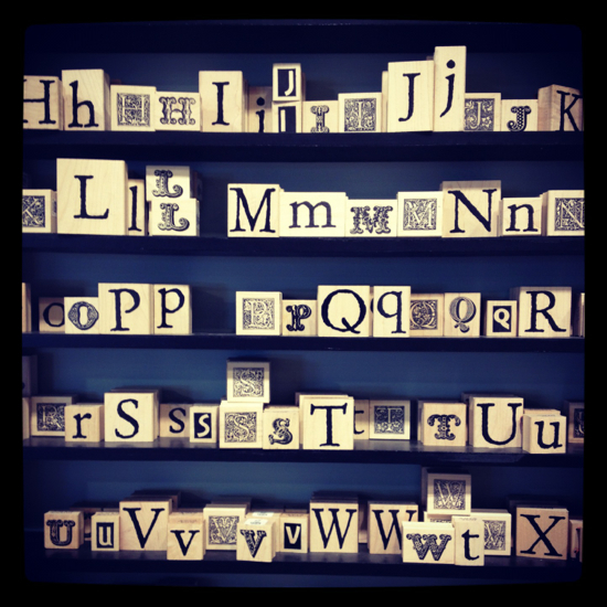 Alphabet stamps.