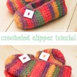 Crochet Pattern: Rainbow Striped Slippers