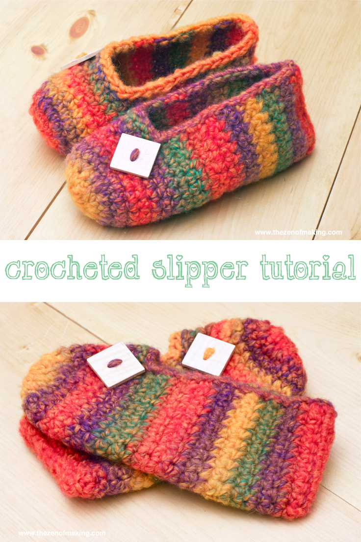 Crochet Pattern: Rainbow Striped Slippers