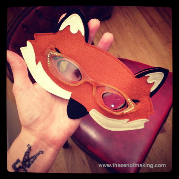 fantastic mr fox mask template - mr fox mask