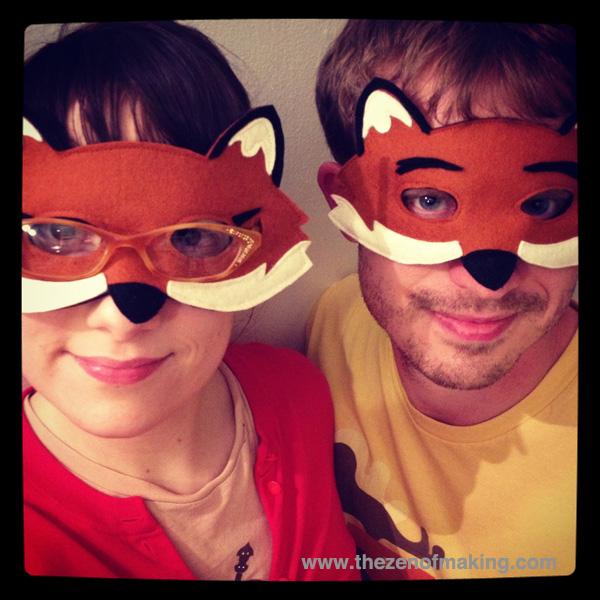 Sunday Snapshot: Mr. and Mrs. Fox Masks | The Zen of Making