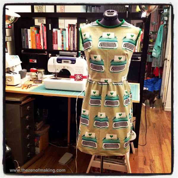 typewriter dress