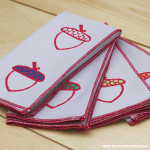 Tutorial: Acorn Block Printed Napkins | Red-Handled Scissors