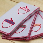 block printed napkins