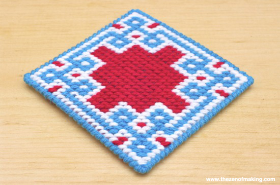 Review: Self-Finishing Needlepoint Coaster Kits from Jenny Henry Designs | The Zen of Making
