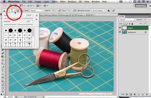 how to make a stamp of layers in photoshop