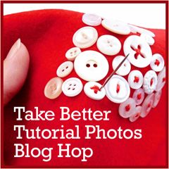 Craft Photography Tips: Take Better Tutorial Photos Blog Hop | Red-Handled Scissors