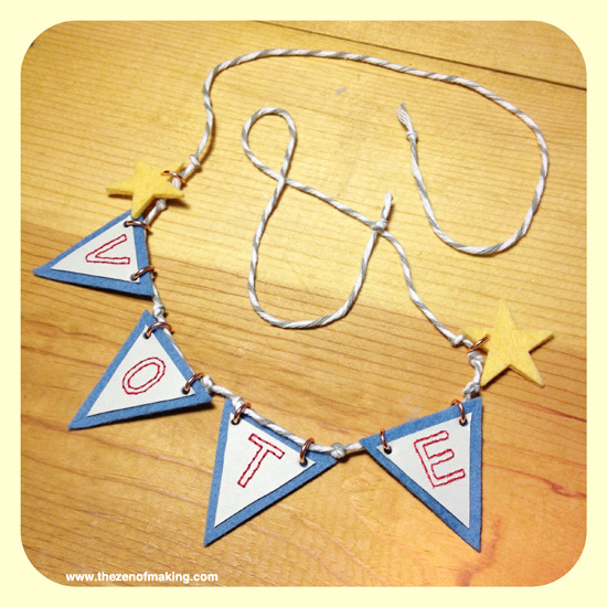 Election Day Bonus Craft: Mini Vote Bunting | Red-Handled Scissors