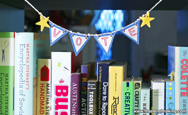 "Election Day Bonus Craft: Mini ""Vote"" Bunting 