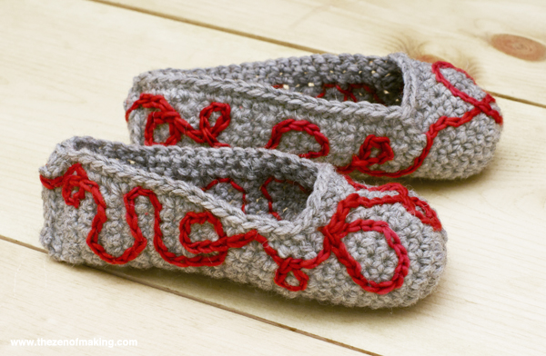 Tutorial: Crochet Embroidery | Red-Handled Scissors