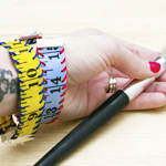 measuring tape bracelet tutorial