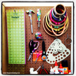 Sunday Snapshot: Embroidery Hoop Organization | Red-Handled Scissors