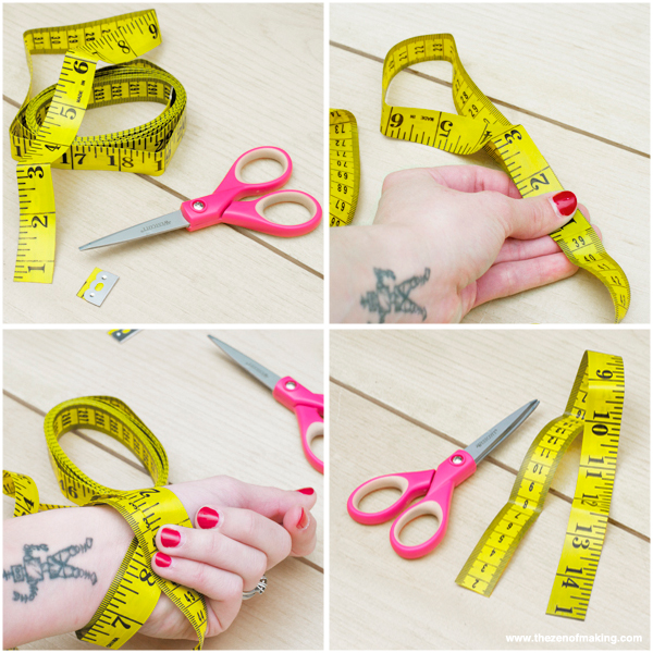 Tutorial: Measuring Tape Bracelet | Red-Handled Scissors