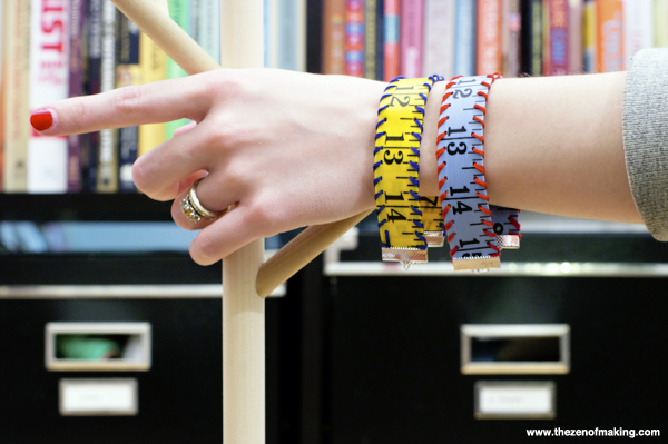 Tutorial: Measuring Tape Bracelet | The Zen of Making