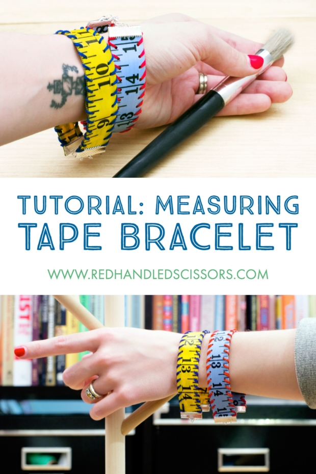 Tutorial: Measuring Tape Bracelet: Show of your DIY cred—and put some of those extra notions to good use—with my measuring tape bracelet tutorial!