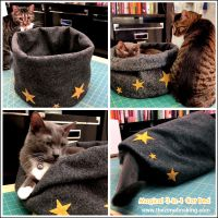 Tutorial: Super Bulky Crocheted Cat Bed | Red-Handled Scissors