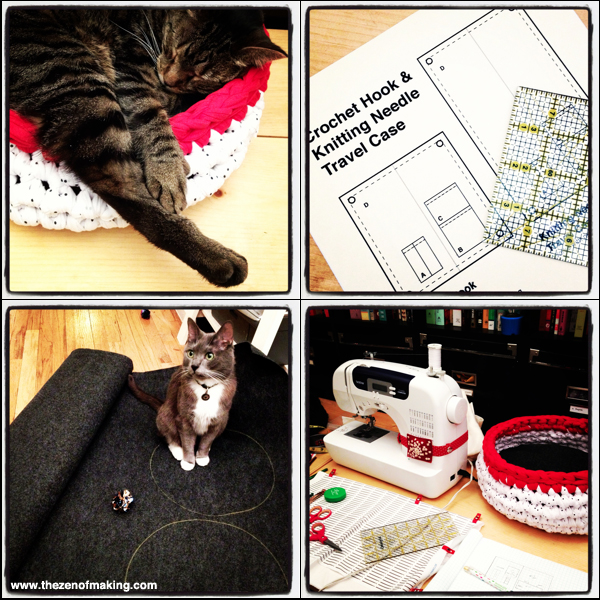Sunday Snapshot: Sewing, Hooking, and Designing | Red-Handled Scissors