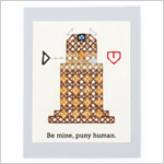 Dalek cross-stitch valentine