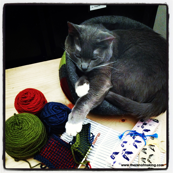 Sunday Snapshot: Cat-Based Craft Supply Security System | Red-Handled Scissors