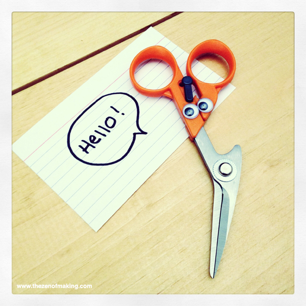 These Scissors Sure are Friendly! | Red-Handled Scissors