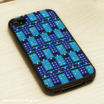 Tessellating TARDIS iPhone Case Cross-Stitch Pattern | Red-Handled Scissors