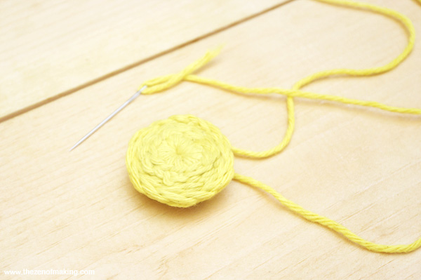 Tutorial: Stabilizing Crocheted Buttons | Red-Handled Scissors