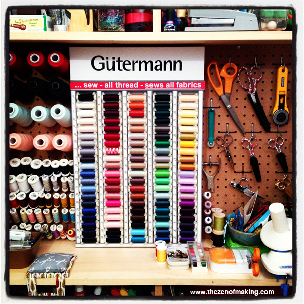 Organize: Gütermann In-Home Thread Cabinet | The Zen of Making