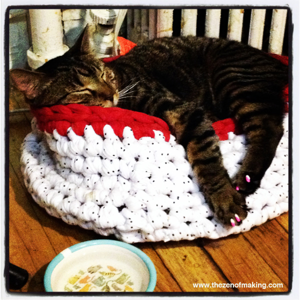 Sunday Snapshot: Crocheted Cat Nap | The Zen of Making