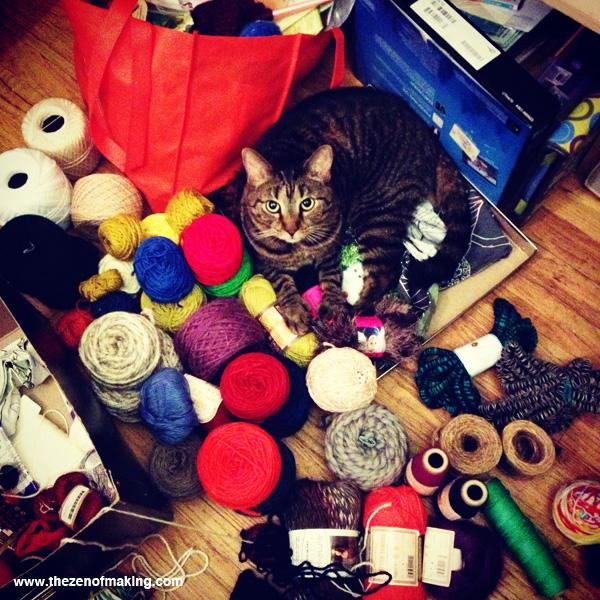 Sunday Snapshot: Pixel the Yarn Cat | The Zen of Making
