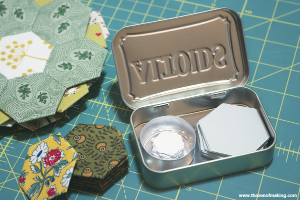 Organize: Altoids Tin Hexie Template Storage | Red-Handled Scissors