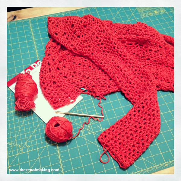 Sunday Snapshot: The Crochet Perfectionist Blues | The Zen of Making