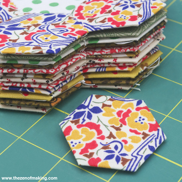 Tutorial: English Paper Piecing, Hexies Part 1 | Red-Handled Scissors