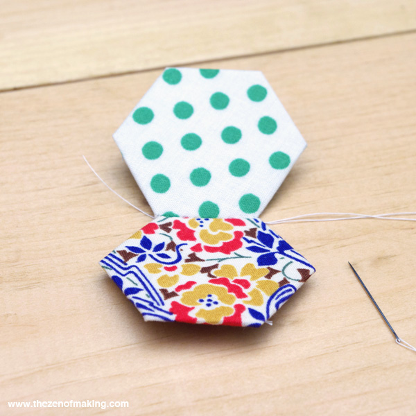 Tutorial: English Paper Piecing, Hexies Part 2 | Red-Handled Scissors