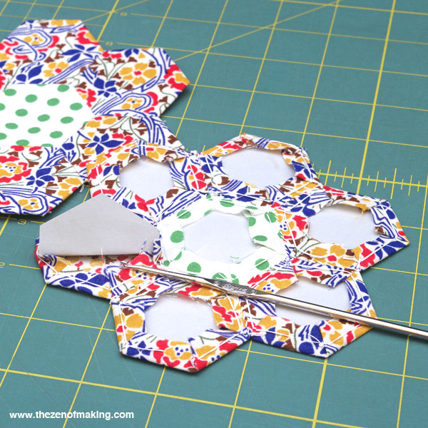Tutorial: English Paper Piecing Travel Kit, Hexies Part 3 | The Zen of Making