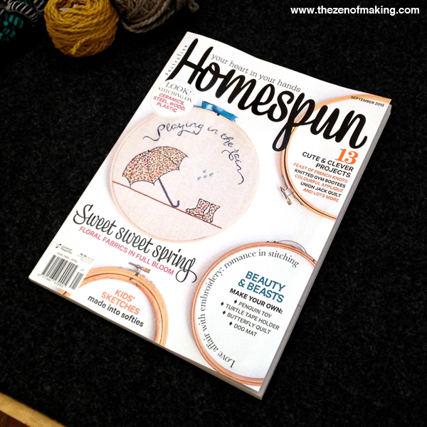 Monday Snapshot: TZoM in Homespun Magazine! | The Zen of Making