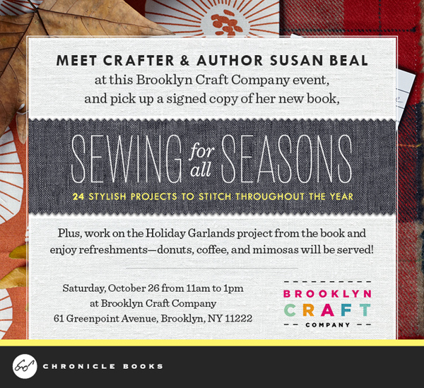 NYC Crafters: Come to the Sewing for all Seasons Book Party TOMORROW at Brooklyn Craft Company! | The Zen of Making