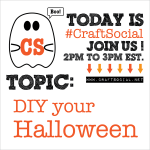 Today's Craft Social: DIY Your Halloween   Red-Handled Scissors