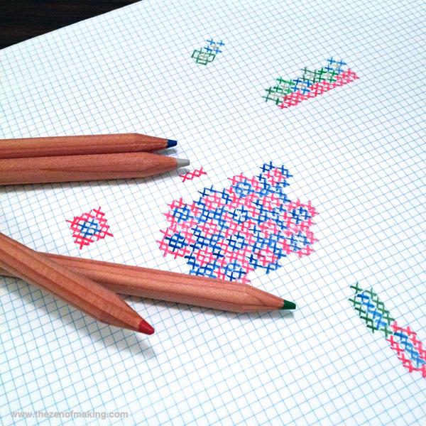 Sunday Snapshot: Hand-Sketching Cross-Stitch Patterns | The Zen of Making
