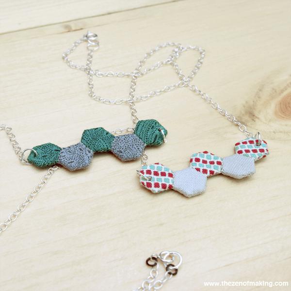 Tutorial: Mini Hexie Necklace | The Zen of Making