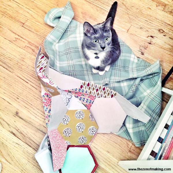 Sunday Snapshot: The Mysterious Incident of the Cat and the Quilt Top | Red-Handled Scissors
