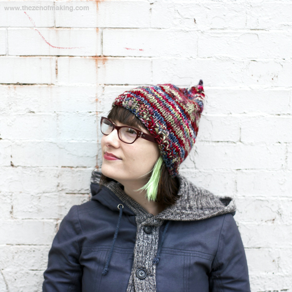 Knitting Pattern: Easy Grownup Pixie Hat | The Zen of Making