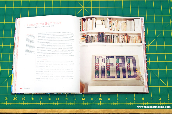 Book Projects: READ Cross-Stitch Wall Panel for BiblioCraft | Red-Handled Scissors