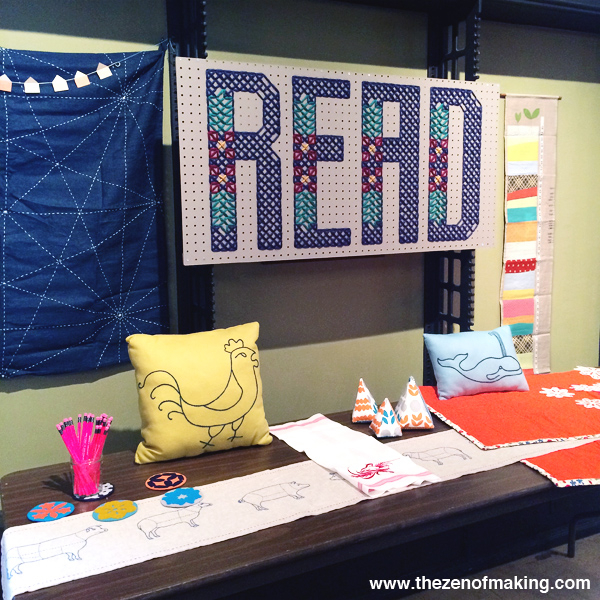 Book Projects: READ Cross-Stitch Wall Panel for BiblioCraft | The Zen of Making