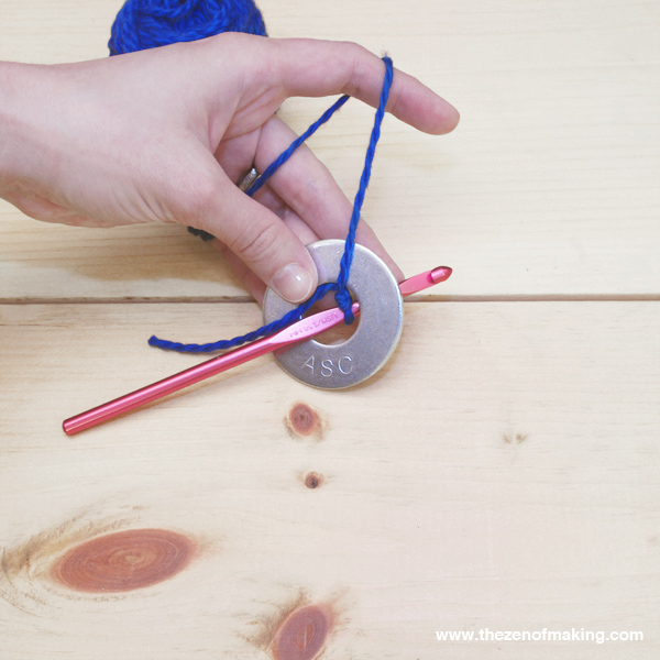 Video Tutorial: Crocheted Metal Washer Pattern Weights   Red-Handled Scissors
