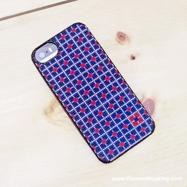 Pattern: Geometric Color Block Cross-Stitch iPhone Case | The Zen of Making