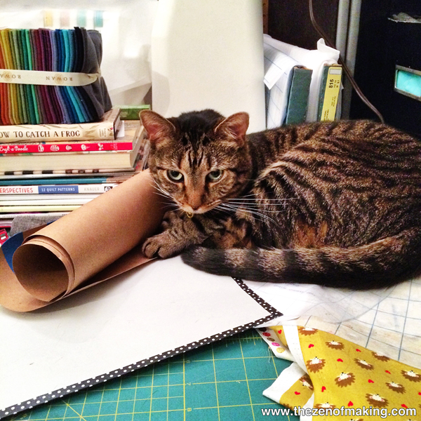 Monday Snapshot: Pixel the Pattern Cat | Red-Handled Scissors