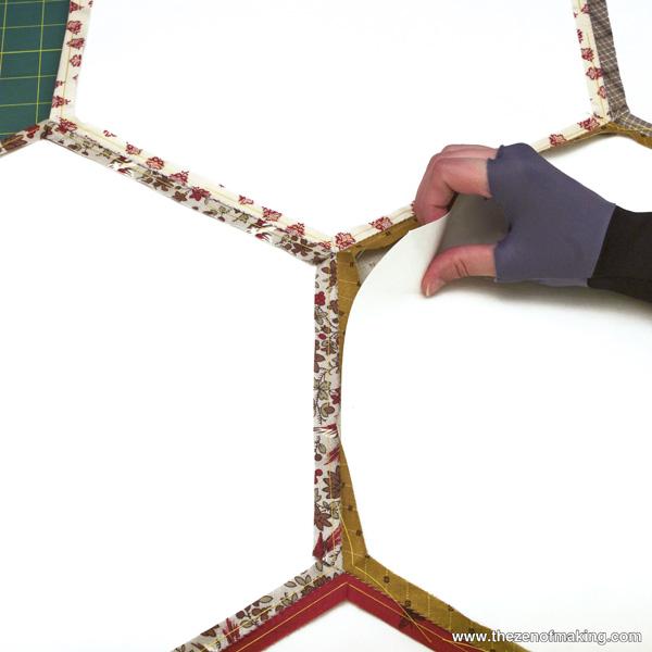 Tutorial: Giant Hexie Flower Lap Quilt - 12 Hexies (or Less) Blog Hop   Red-Handled Scissors
