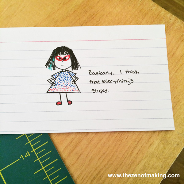 Sunday Snapshot: Tiny Cranky Haley Cartoons | The Zen of Making