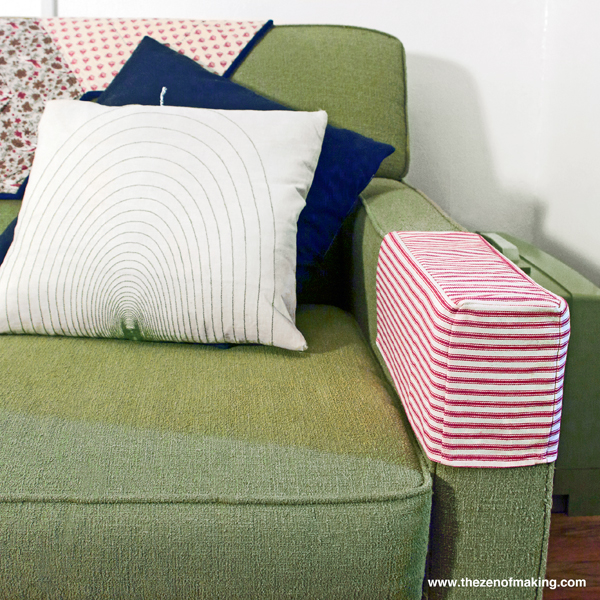 Tutorial: Simple Fabric Armrest Covers | Red-Handled Scissors